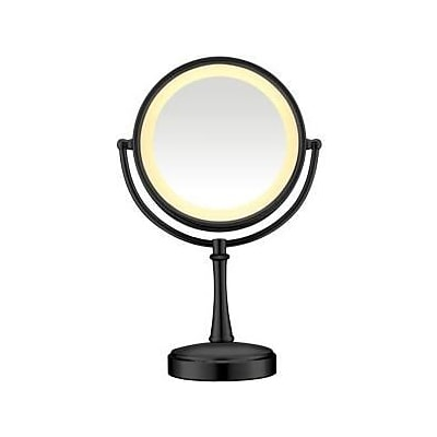 Conair® Touch Control Lighted Mirror; 8 1/2, Matte Black (BE87MB)