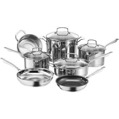 Cuisinart(r) Professional Series(tm) Stainless Steel Cookware Set; 11 Piece, Silver (89 11)