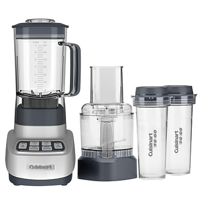 Cuisinart® Velocity Ultra Trio 56 oz. 1 HP Blender/Food Processor with Travel Cups; Clear/Grey (BFP-650)