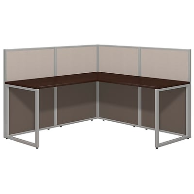 Bush Business Furniture Easy Office 60W L Desk Open Office, Mocha Cherry(EOD360MR-03K)