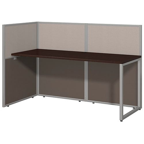 Bush Business Furniture Easy Office 60W Straight Desk Open Office; Mocha Cherry, (EOD160MR-03KFA)