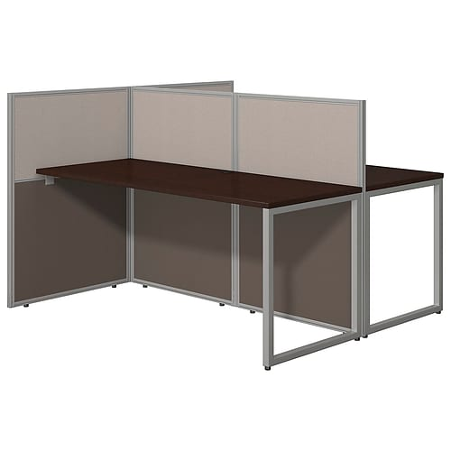 Bush Business Furniture Easy Office 60W 2 Person Straight Desk Open Office; Mocha Cherry(EOD460MR-03K)