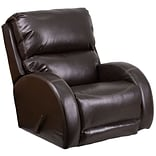 Contemp Ty Brown Leather Rocker Recliner