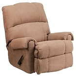 Victory Lane Taupe Fabric Rocker/Recliner