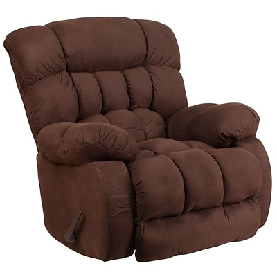 Flash Furniture Contemporary Softsuede Fudge Microfiber Rocker Recliner (WM9200530)