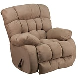 Softsuede Taupe Microfiber Rocker Recliner
