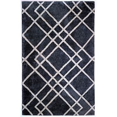 Anji Mountain Astralis Collection 8 x 10 Diamond Dogs, Gray/Ivory Rug ( AMB0613-0810 )