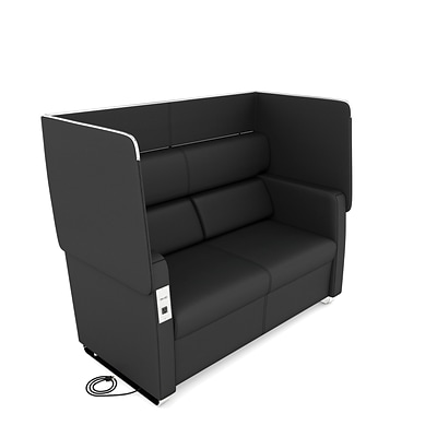 OFM Morph Series Soft Seating Sofa, Midnight (2202-MDN)