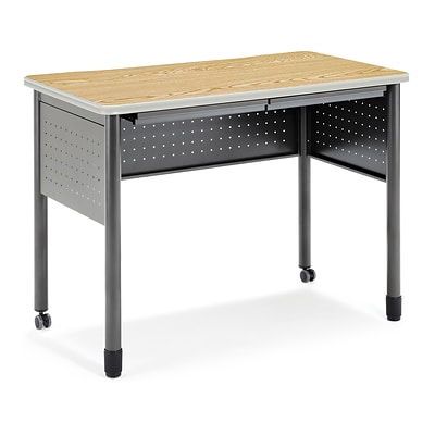 OFM Mesa Series Standing Height Training Table/Desk with Drawers 27.75 x 47.25, Oak (66121-OAK)