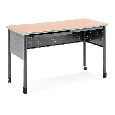 OFM Mesa Series Standing Height Training Table/Desk with Drawers 27.75 x 59.25, Maple (66151-MPL)