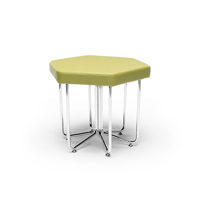 OFM Hex Series Stool with Chrome Frame, Leaf (66-LEF)