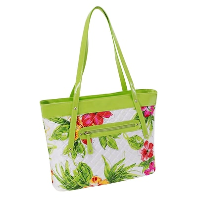 FIONA Green Quilted Carry All Tote (11281)