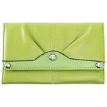 EVELINE Green Tri-fold Snap Closure Wallet (11301)