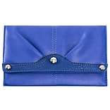 EVELINE Blue Tri-fold Snap Closure Wallet (11308)