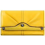 EVELINE Yellow Tri-fold Snap Closure Wallet (11309)
