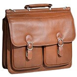 HAZEL CREST Brown 15.6 Leather Double Compartment Laptop Case (15604)