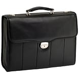 NORTH PARK Black 15.6 Leather Executive Briefcase (46555)
