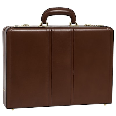 COUGHLIN Brown Leather Expandable Attache Case (80464)