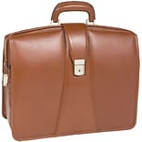 HARRISON Brown 17 Leather Partners Laptop Brief (83384)