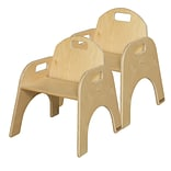 Wood Designs Wood Classroom Chair (Set of 2); 9