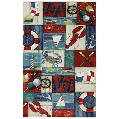 Mohawk Home N is for Nautical Nylon 5x8 Multi-Colored Rug (086093431303)
