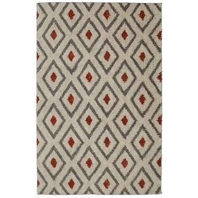 Mohawk Home Tribal Diamond EverStrand PET 8x10 Coral Rug (086093489267)
