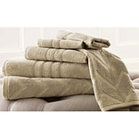 Amrapur 6 Piece 100pct Cotton Towel Set; Taupe