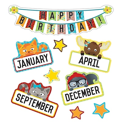 Carson-Dellosa Hipster Birthday Mini Bulletin Board Set (110341)