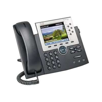 Cisco™ CP-7965G-RF 6-Line Corded Unified IP Phone; Office Phones, Gray/Silver