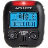 Acurite® 02020 Portable Lightning Detector, Black