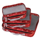 American Flyer Fleur De Lis Perfect Packing System Garment Bag (Set of 3); Red