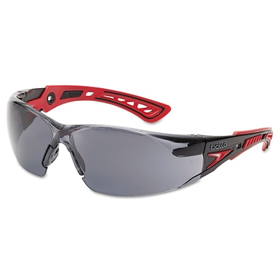 Bolle Rush+ Series Polycarbonate Safety Glasses, Smoke Lens (286-40208)