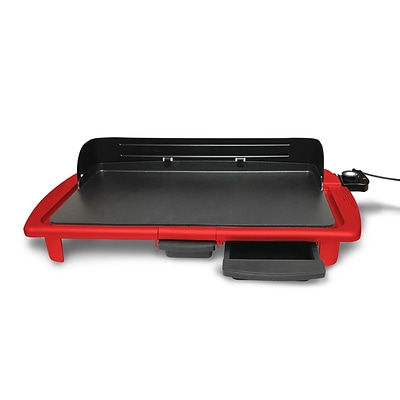 Elite 20 x 10 Aluminum Nonstick Griddle with Splash Guard; Red (KM2013RG)