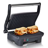 Elite 3-in-1 Panini; Press and Indoor Grill, Black/Silver (KM2976)