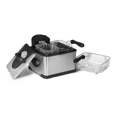 Elite 4-Quart Dual Basket Deep Fryer; Silver (KM401T)