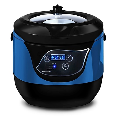 Elite 5.5-Quart Programmable Digital Pressure Cooker; Blue (KM55BL)