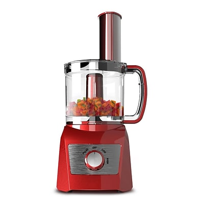 Elite Compact BPA-Free 3-Cup Food Processor; Red (KM7719R)