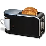 Elite KM819 2-Slice Toaster and Coffee Maker Station; Black