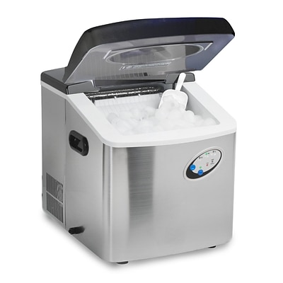 Elite High Capacity Portable Ice Maker Stainless Steel; 35 lbs (KM88)
