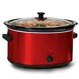 Elite 8.5-Quart Deluxe Sized Slow Cooker; Red (KM900R)
