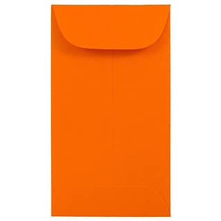 JAM Paper® #6 Coin Business Colored Envelopes, 3.375 x 6, Orange Recycled, 100/Pack (356730558B)