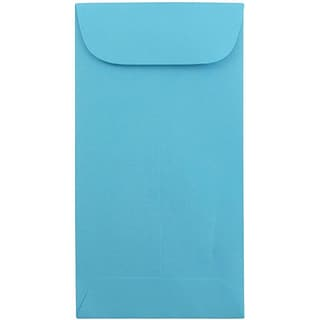 JAM Paper® #7 Coin Business Colored Envelopes, 3.5 x 6.5, Blue Recycled, 25/Pack (1526764)