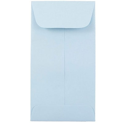 JAM Paper® #7 Coin Envelopes, 6.5 x 3.5, Baby Blue, 500/box (1526770H)