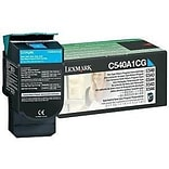 Lexmark® C540A4CG Cyan 1000 Pages Standard Yield Return Program Toner Cartridge for C540/C543 Printe