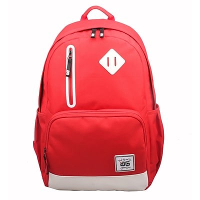 AfterGen Red Polyester Back to School Backpack (AG001-R)
