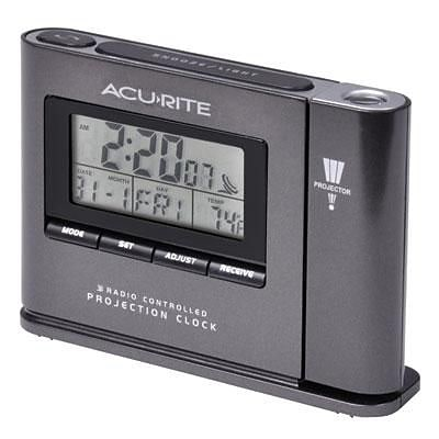 Chaney Instruments Acurite® Indoor 3.6H x 5.1W x 1.25D Digital Atomic Projection Table Clock (13239A1)