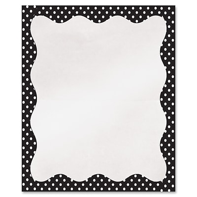 Clear View Self-Adhesive Library Pockets, 3 1/2 x 5, Clear with B/W Dots Border