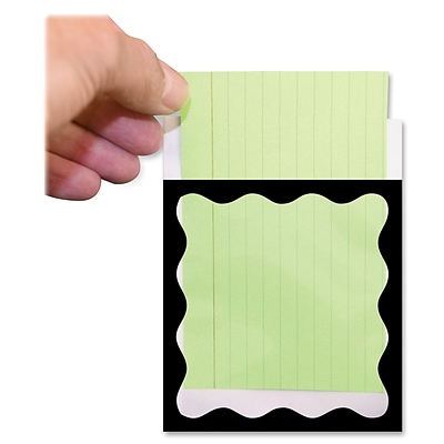Clear View Self-Adhesive Library Pockets, 3 1/2 x 5, Clear with Black Scallop Border