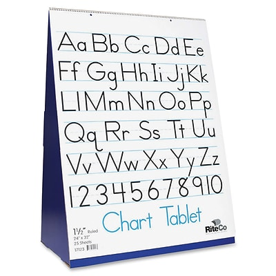 Spiral-Bound Flip Chart Stand with 1/2 Ruled Chart Tablet