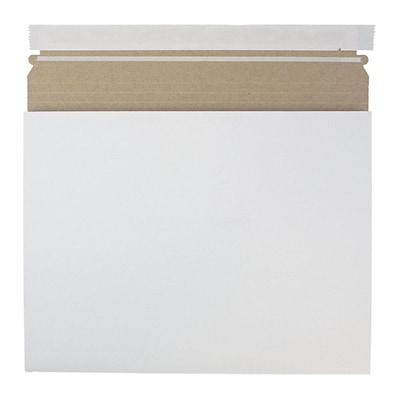 JAM Paper® Expandable Photo Mailer, 12.25 x 9.5 x 1, White, 6/Pack (28906706B)